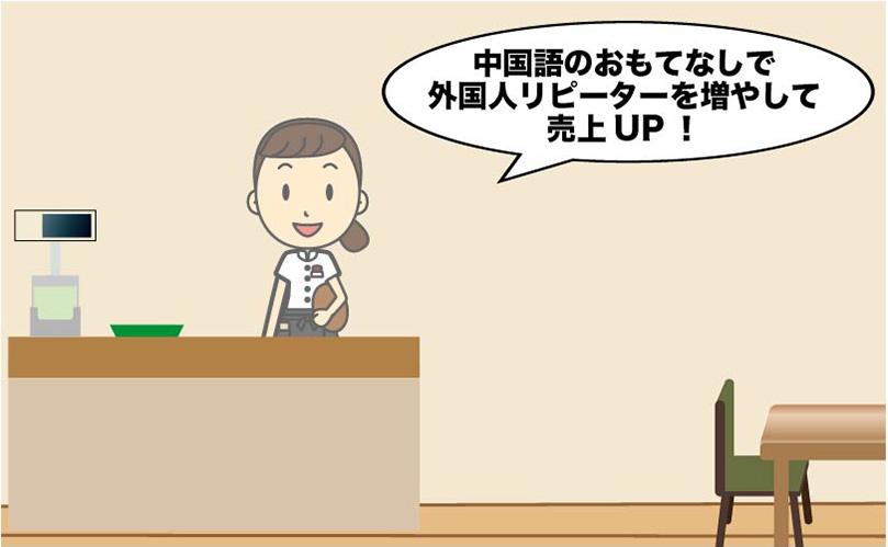 中国語でおもてなしファーストフードカフェ中国語接客会話集例文集
